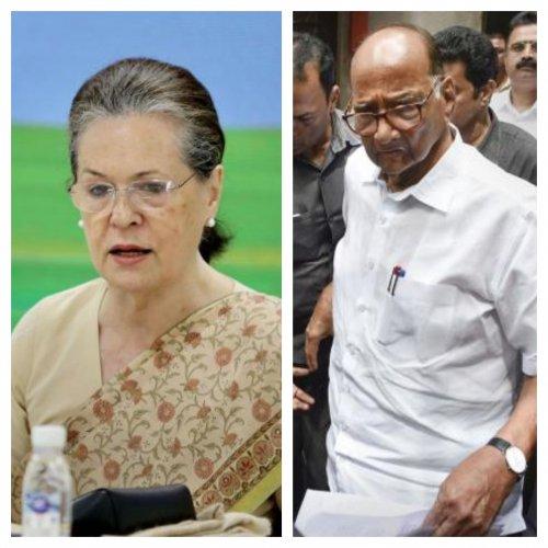 Congress chief Sonia Gandhi and NCP chief Sharad Pawar.