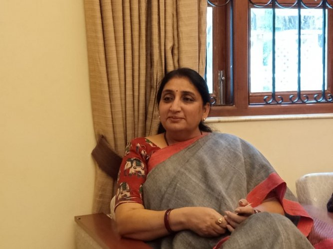 NCP leader Ajit Pawar's wife Sunetra Pawar. Photo/DH