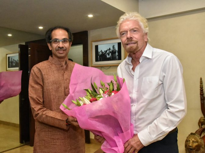 The meeting between Thackeray and Virgin Group founder was held at Matoshree,the Bandra bungalow of the Thackeray family.