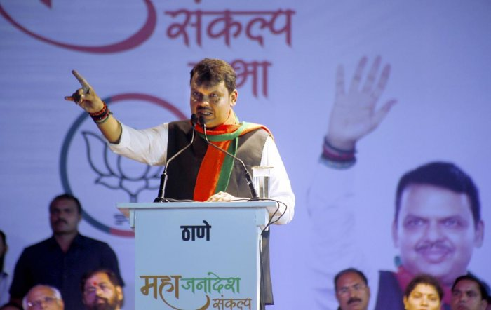 """""""Amit Bhai (Shah) has confirmed nothing has been decided on CM post to Shiv Sena. No formula is decided yet,"""" Fadnavis said at the annual Diwali luncheon meeting with journalists. Photo/PTI"""