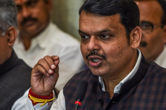 Bharatiya Janata Party (BJP) leader and former Chief Minister of the western Indian state of Maharashtra Devendra Fadnavis (AFP Photo)