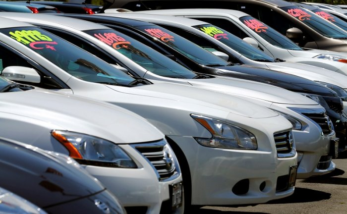 Automobiles are shown for sale at a car dealership in Carlsbad, California, US. (Reuters Photo)