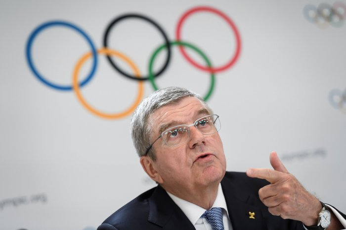 International Olympic Committee (IOC) President Thomas Bach. (AFP Photo)