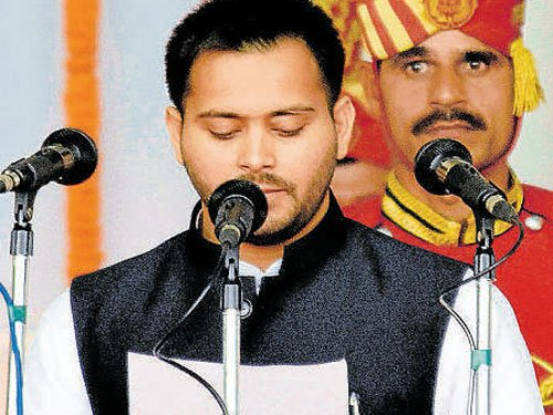 Cricket to politics, Tejashwi pads up for new innings