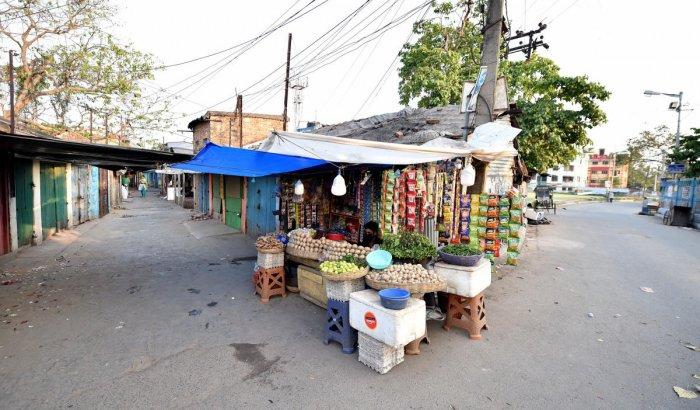 A deserted street in Kolkata. (PTI Photo)