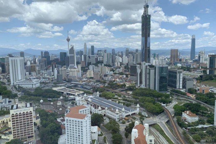 The city center of Kuala Lumpur, Malaysia is seen empty. AP/PTI