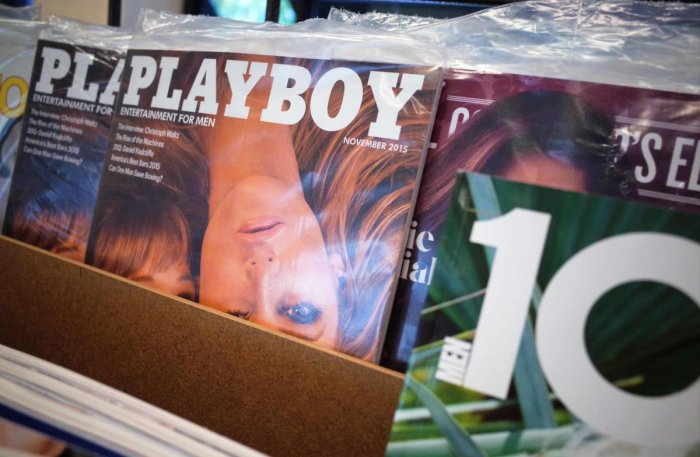 In this file photo from 2015, 'Playboy' magazines are seen on the shelf of a bookstore in Maryland, US. Credit: AFP File Photo