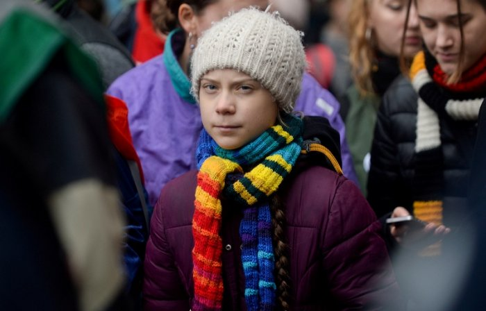 Swedish climate activist Greta Thunberg takes part in the rally ''Europe Climate Strike'' in Brussels, Belgium. (Reuters Photo)