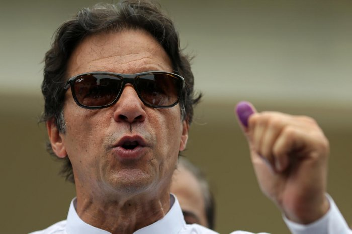 Khan, 65, dubbed as one of Pakistan's greatest cricketers who transformed his shaky team into champions in the 1992 Cricket World Cup, proved himself as an inspiring leader in politics too by leading his Pakistan Tehreek-e-Insaf party (PTI) to the victory in the general elections. Reuters photo.