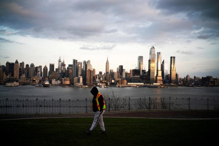 The Empire State Building and the skyline of New York are seen as the coronavirus outbreak continues in New York. Reuters