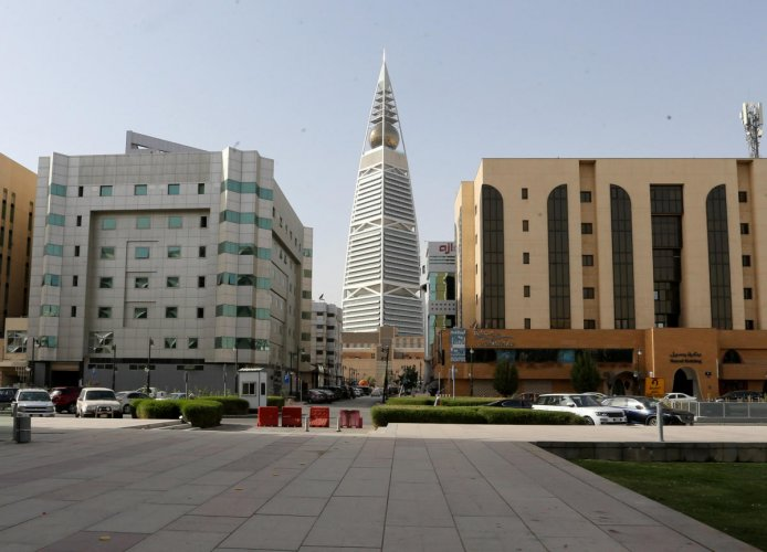 General view shows the empty garden of the King Fahd Library, following the outbreak of coronavirus in Riyadh. Reuters