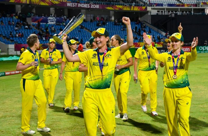 File picture of Australia women's cricket team. AFP Photo