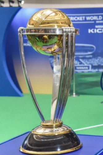 The coveted Cricket World Cup trophy. Picture credit: SK Dinesh/ DH Photo