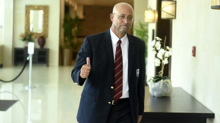 Cameron was defeated eight votes to four by Ricky Skerritt, a former West Indies team manager in a ballot conducted in Kingston, Jamaica. Twitter photo.