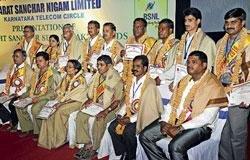 BSNL honours excellent workers