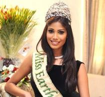 Miss Earth looks up to film sky