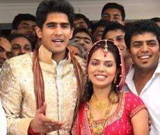 Vijender marries Delhi girl Archana
