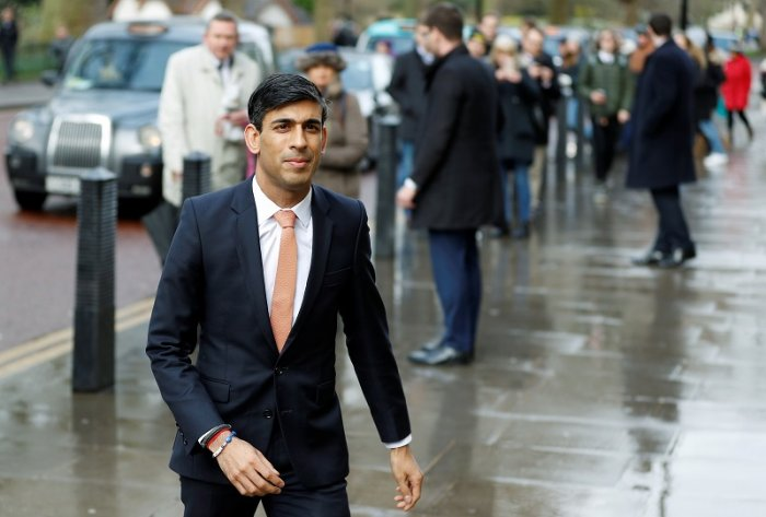 Newly appointed Britain's Chancellor of the Exchequer Rishi Sunak. (Reuters Photo)
