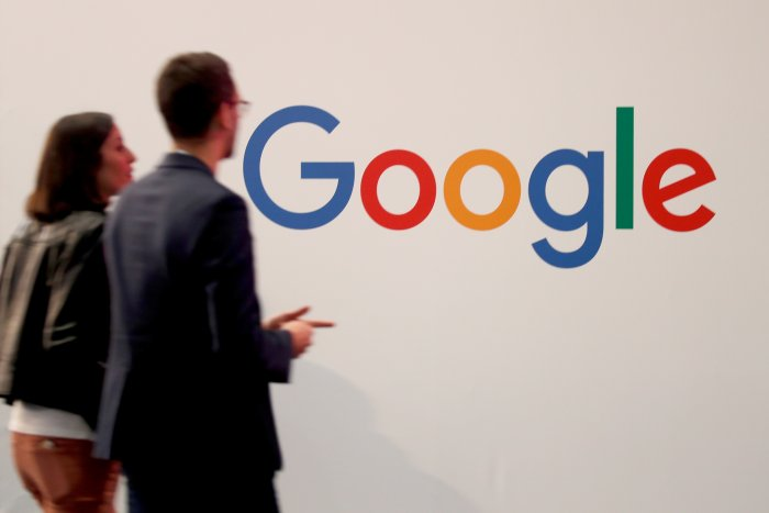 The Google logo is seen at an event in Paris. (Reuters Photo)