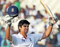 Cook continues to batter India