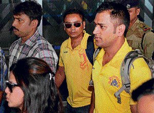 Mood sombre as CSK arrive in Kolkata without fanfare