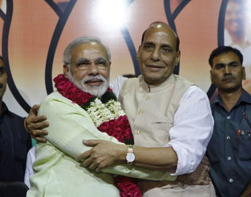 Modi anointed BJP's PM candidate, Advani sulks