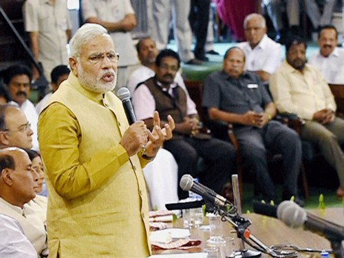 Modi's guidelines for MPs: Do research, don't touch my feet