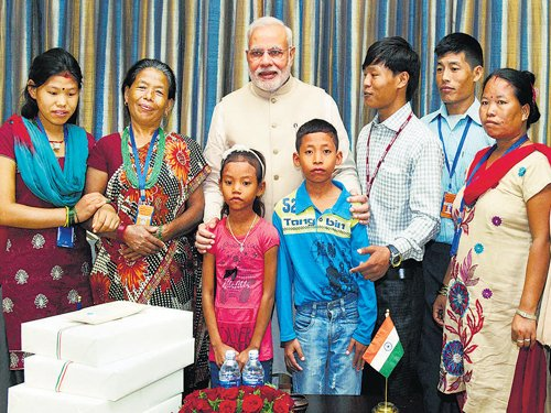 Modi reunites Nepalese youth with family