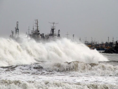 Depression intensifies into Cyclone 'Hudhud'