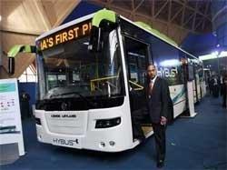 Ashok Leyland unveils bus with wireless connectivity