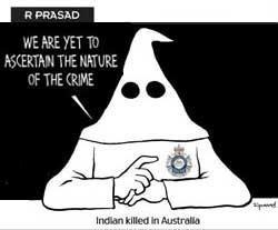 Ku Klux Klan cartoon in Indian newspaper angers Australia
