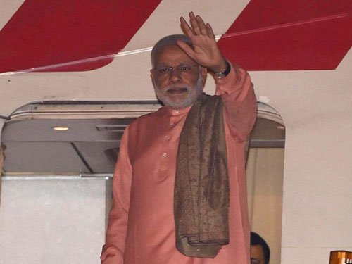 After China visit, Modi leaves for Mongolia