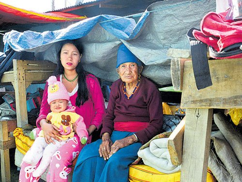Villagers spend nights in open