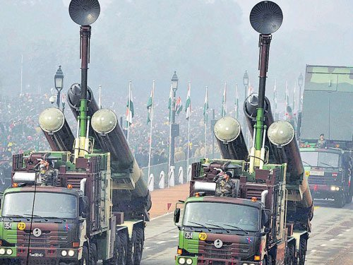 Agni missing for third time at parade