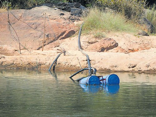 Water pumped from Bhadra illegally