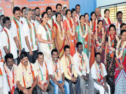 BJP honours Panchayat poll winners