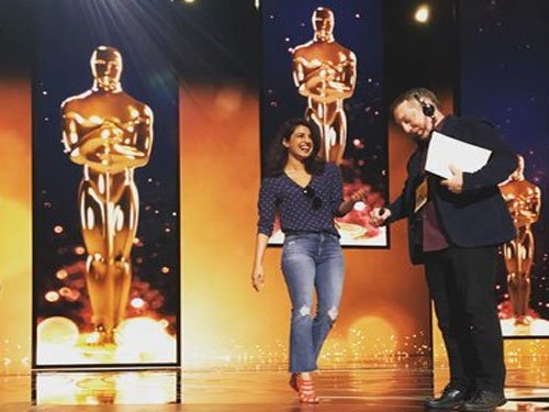 Priyanka Chopra gears up for Oscars, rehearses at venue