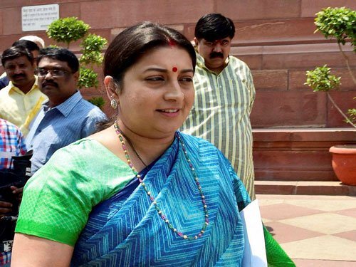 Irani, Cong leader indulge in ugly twitter spat
