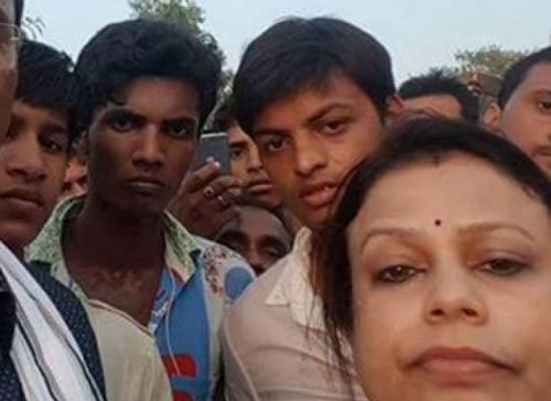 Cong MLA invites criticism over selfie at bus accident spot