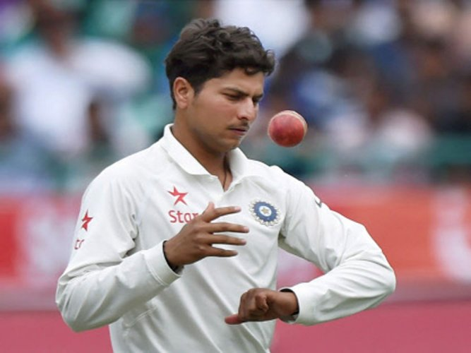 Debutant Kuldeep takes 4, Australia all-out for 300 on Day 1