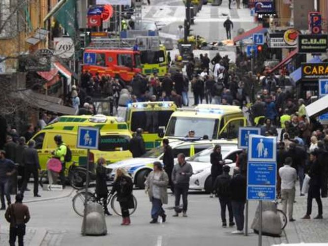 Truck crashes into Stockholm store, 3 dead: Swedish media