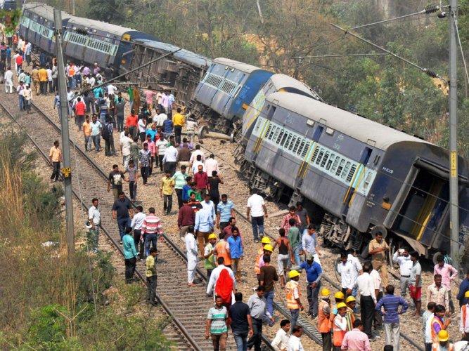 Rajya Rani derailment: Railways hints at sabotage