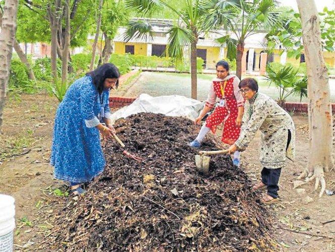 Women strive to make the Taj city clean