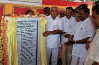 CM lays foundation for Anekere project in Karkala
