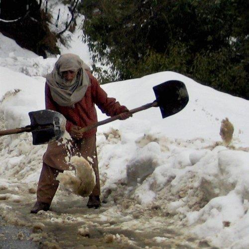 Snowfall in Jammu's high-altitude areas
