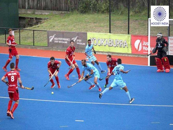Indian men's hockey team loses to Belgium