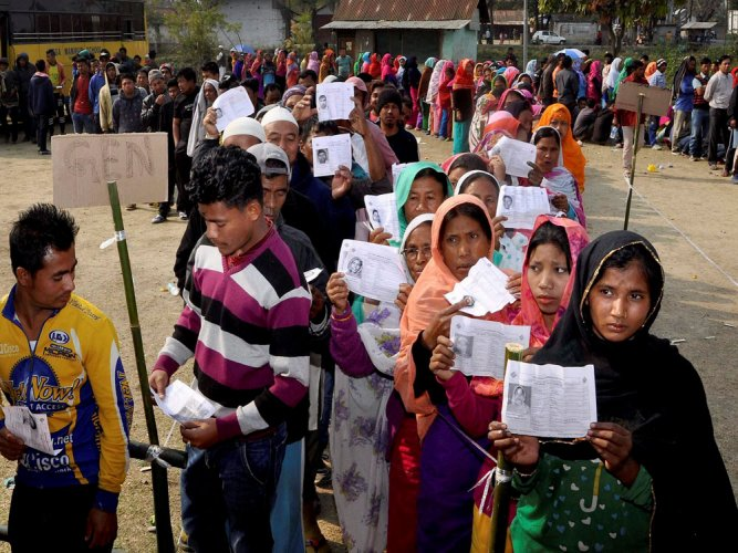 75 per cent polling in Nagaland, 67 in Meghalaya