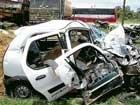 Three killed in bus-car collision