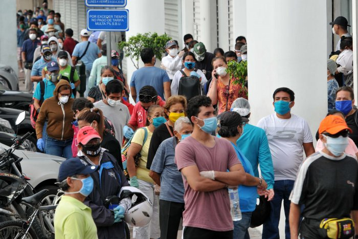 Ecuador reported 24,258 cases of COVID-19 till April 18, including 871 deaths, plus 1,212 other deaths of people who were suspectedly infected. (AFP)