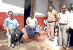 ZP CEO sits in dharna for toilet construction in a C'durga village